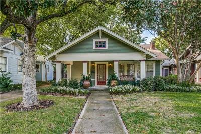 Dallas Single Family Home Active Contingent: 5826 Belmont Avenue