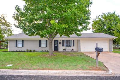 Stephenville TX Single Family Home Active Option Contract: $149,500