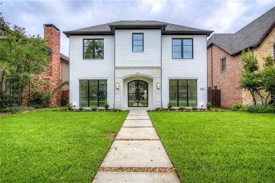 Dallas, Highland Park, University Park Single Family Home For Sale: 3433 Amherst Avenue