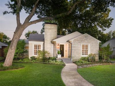 Dallas TX Single Family Home For Sale: $899,000