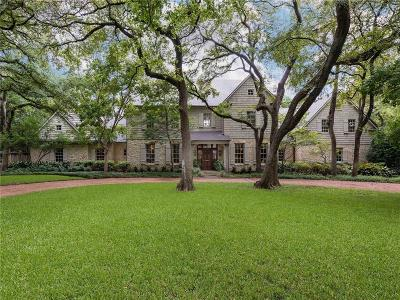 Dallas Single Family Home Active Contingent: 4709 Bluffview Boulevard