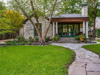 Dallas Single Family Home For Sale: 4316 N Cresthaven Road