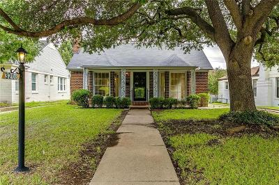 Fort Worth Single Family Home For Sale: 3208 W Biddison Street