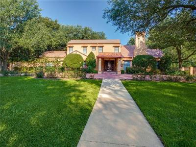 Fort Worth Single Family Home For Sale: 6300 Greenway Road