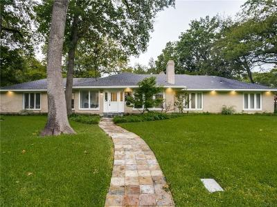 Dallas Single Family Home For Sale: 8331 San Cristobal Drive