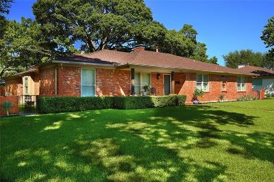 Dallas Single Family Home For Sale: 12139 Midlake Drive