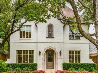 University Park Single Family Home For Sale: 4448 Mockingbird Parkway