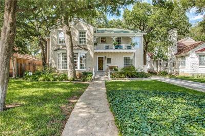 Dallas TX Single Family Home For Sale: $895,000