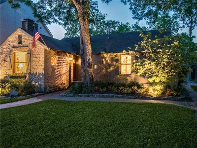 Dallas Single Family Home For Sale: 5517 W Hanover Avenue