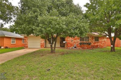 Abilene Single Family Home For Sale: 1431 Mimosa Drive