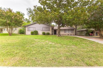 Fort Worth Single Family Home Active Option Contract: 5509 Winifred Drive