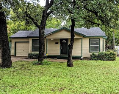 Fort Worth Single Family Home For Sale: 3701 Wilbarger Street