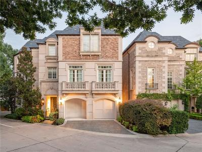 Dallas Single Family Home For Sale: 3901 Turtle Creek Boulevard #2
