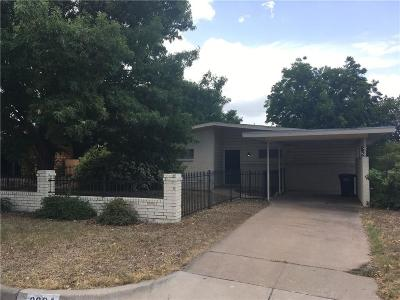Fort Worth Single Family Home For Sale: 3924 Sanguinet Street