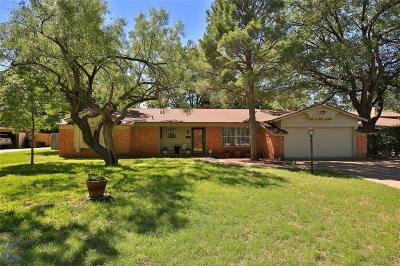 Abilene Single Family Home Active Option Contract: 742 Westwood Drive