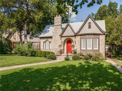 Dallas Single Family Home For Sale: 2505 Hillside Drive
