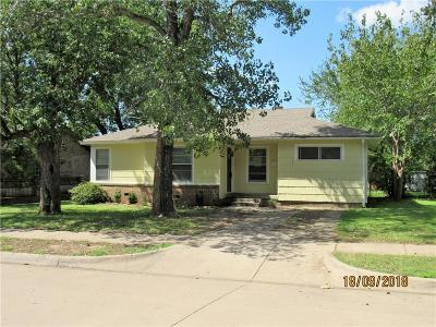 Fort Worth TX Single Family Home For Sale: $119,500