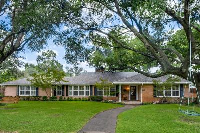 Dallas Single Family Home For Sale: 7131 Greenbrook Lane