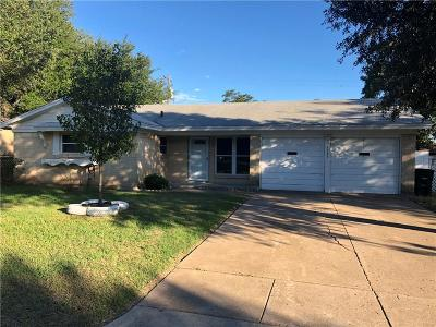 Cleburne Single Family Home Active Option Contract: 1315 Roberts Avenue