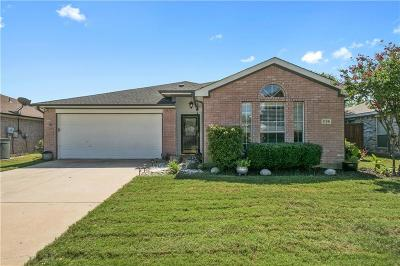 Little Elm Single Family Home Active Option Contract: 1136 Lake Bluff Drive
