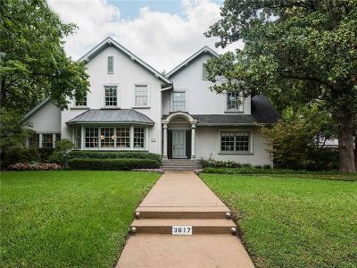 Highland Park Single Family Home For Sale: 3617 Euclid Avenue