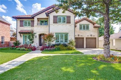 Allen, Dallas, Frisco, Plano, Prosper, Addison, Coppell, Highland Park, University Park, Southlake, Colleyville, Grapevine Single Family Home For Sale: 6612 Stichter Avenue
