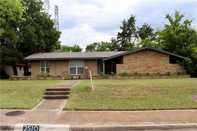 Dallas Single Family Home For Sale: 3510 Kiestcrest Drive