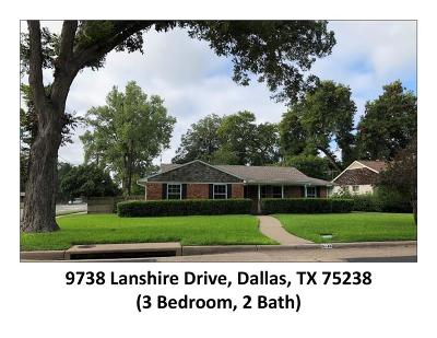 Dallas Single Family Home For Sale: 9738 Lanshire Drive