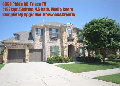 Frisco Single Family Home For Sale: 8364 Pitkin Road
