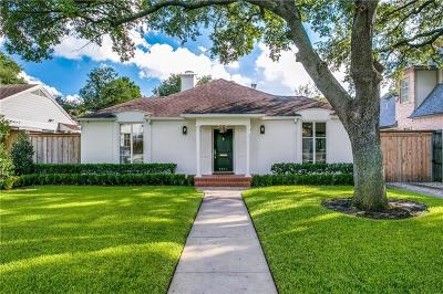 Highland Park Single Family Home For Sale: 4641 Belclaire Avenue