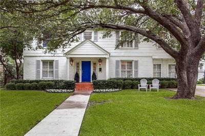 Dallas, Fort Worth Single Family Home For Sale: 5537 W University Boulevard
