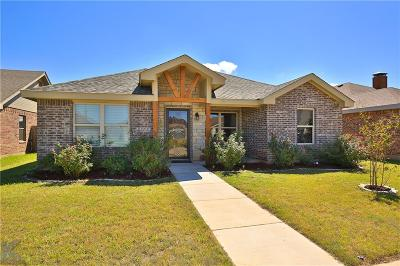 Abilene Single Family Home For Sale: 3617 Firedog Road