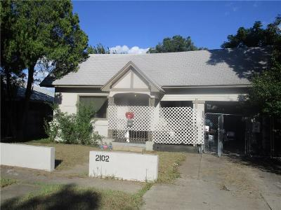 North Fort Worth Single Family Home For Sale: 2102 Clinton Avenue