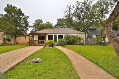 Abilene Single Family Home For Sale: 917 Blair Street