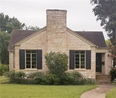 Dallas, Fort Worth Single Family Home For Sale: 5522 Stanford Avenue