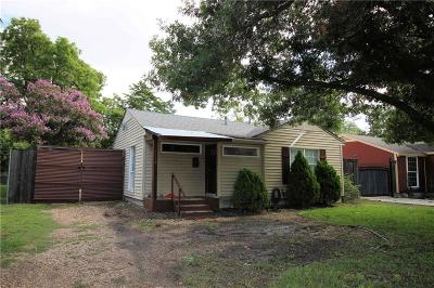 Dallas TX Single Family Home For Sale: $170,000