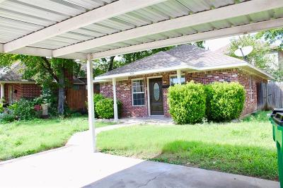 McKinney Single Family Home Active Option Contract: 909 Charleston Street