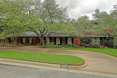 Fort Worth Single Family Home For Sale: 3500 Autumn Drive