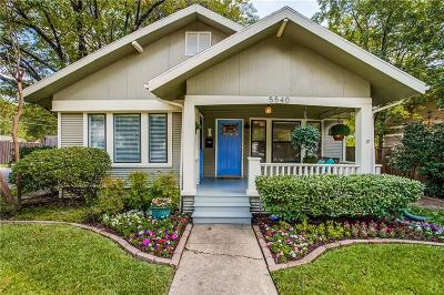 Dallas Single Family Home For Sale: 5540 Victor Street