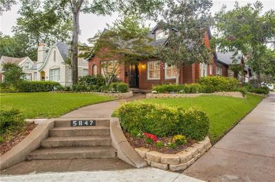 Dallas County Single Family Home For Sale: 5847 Morningside Avenue