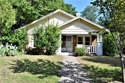 Denton Single Family Home Active Option Contract: 916 Panhandle Street