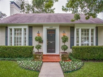 Highland Park, University Park Single Family Home For Sale: 4605 Southern Avenue