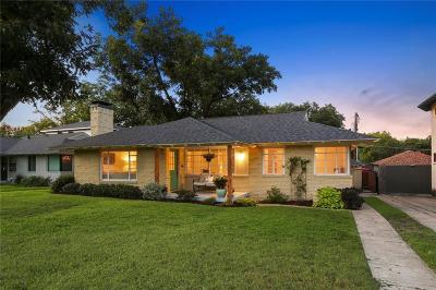 Dallas Single Family Home Active Option Contract: 6531 Winton Street