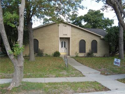 Coppell Residential Lease For Lease: 558 Shadowcrest Lane