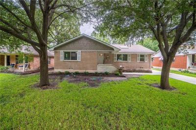 Dallas Single Family Home For Sale: 6911 Bucknell Lane