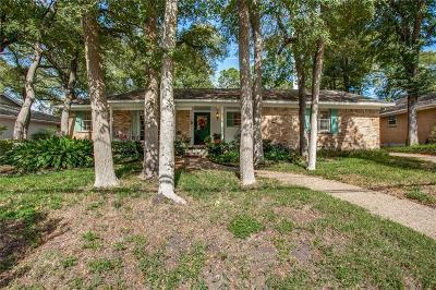 Dallas Single Family Home For Sale: 9049 Mercer Drive