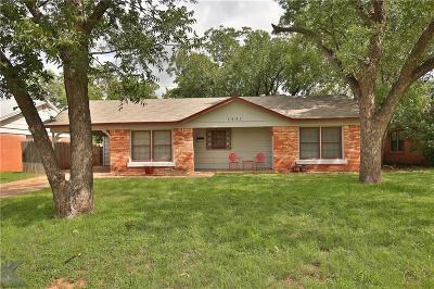 Abilene Single Family Home For Sale: 1901 Westview Drive