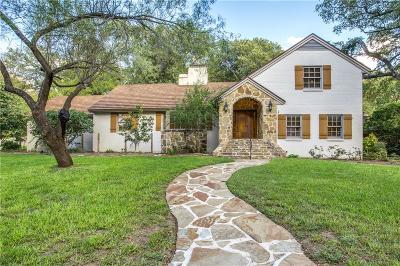 Fort Worth Single Family Home For Sale: 3701 Fox Hollow Street