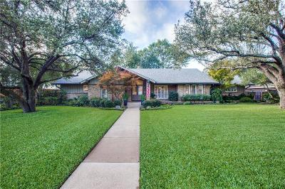 Dallas Single Family Home Active Option Contract: 3764 Northaven Road