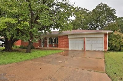 Abilene Single Family Home For Sale: 2572 Madison Avenue